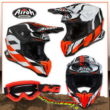 CASCO CROSS ENDURO MOTARD AIROH TWIST GREAT ORANGE MATT 2019 TAGLIA L + MASCHERA