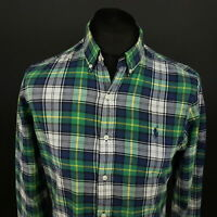 Polo Ralph Lauren Mens Shirt SMALL Long Sleeve SLIM FIT Check Cotton