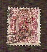 PERF ERROR !! Finland (Suomi) 1875, Mi.18A (Sc.23) perf 11 1/2 across the top !!