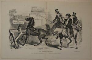 No Thoroughfare by John Proctor (Antique 1868 Political Cartoon Print)