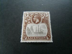 Ascension 1924  KGV  Mm 1/- stamp as per pictures