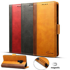 Flip Case Genuine PU Leather Wallet Purse Card Stand Cover For Samsung S9+ Plus