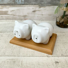 Wild Boar Hog Pig salt and pepper cruet set Gift boxed