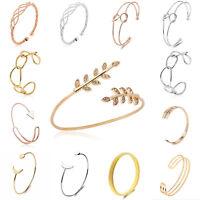 Vintage Women Ladies Gold Silver Punk Bangle Open Cuff Bracelet Fashion Jewelry