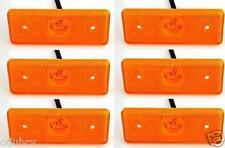 6 pcs 12V 4 LED Side Marker Orange Amber Lights for Iveco Mercedes Fiat Renault