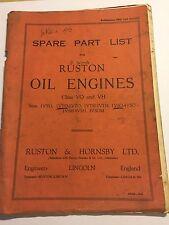 Ruston MARK VO & VH OIL ENGINE illustrated parts manual 1VYO 1VTO 2VTO 3VSOM VTH