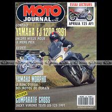 MOTO JOURNAL N°959 APRILIA 125 AF1 YAMAHA YZ SUZUKI RM HONDA CR KAWASAKI KX 1990