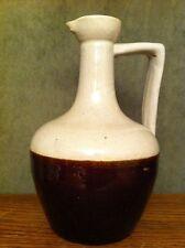 "New listing Antique Vintage Stoneware Brown & Tan Jug Decanter Crock 7 1/2"" Tall"