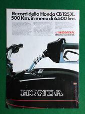 PV128 Pubblicità Advertising Clipping (1980) 31x23 cm - MOTO HONDA CB 125 X