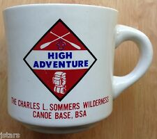 CHARLES L. SOMMERS WILDERNESS CANOE BASE COFFEE MUG, BOY SCOUTS, BSA, ELY, MN