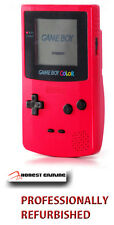NEW GLASS SCREEN  --- RED BERRY NINTENDO GAME BOY COLOR -- RECLAIMED PERFORMANCE
