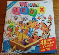 1987 Winnie The Pooh French Jeux Walt Disney Paris France 48 Page Activity Book