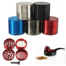 Black 4 Layers Metal Tobacco Crusher Hand Muller Smoke Herbal Herb Grinders Top
