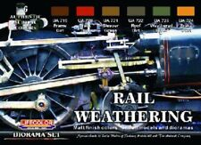 LIFECOLOR Rail Weathering Model Railroading Train Matte Paint Set 6 22ml Bottles