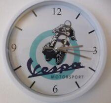 VESPA MOTORSPORT pendule murale horloge 20cm piaggio vespino ss gt gs lxv racing