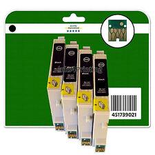 4 Black Ink Cartridges for Epson DX3800 DX3850 DX4800 DX4850 non-OEM E611-4