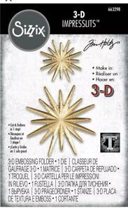 Sizzix Tim Holtz 3-D Impresslits Cut and Emboss Folder ~ Radiant ~ 663298