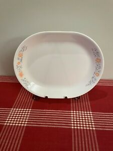 CORELLE Apricot Grove Serving 12 1/4 x 10 Platter Plate Flowers Corning Ware USA