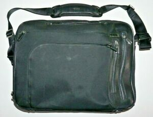 """17"""" Tumi 25641D Nylon/Leather Arrive Kennedy T-Pass Deluxe Expandable Briefcase"""