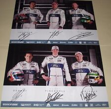Le Mans FIA WEC 2017 Silverstone GTE Pro Winners Ford GT #67 #66 Signed Card Set