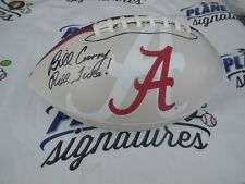 Bill Curry signed Alabama Crimson Tide football w/ Roll Tide COA Packers Colts