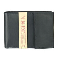 Mens Bifold Genuine Cowhide Leather Wallet Id Credit Card Window Billfold Retro