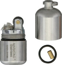 """Maratac Stainless Split Pea Lighter 1.25"""" x .5"""" Comes with Spare O-Ring"""