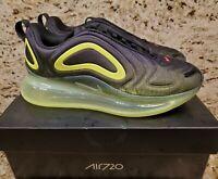 NIKE 6Y | 7.5 Women's Air Max 720 Black Green running casual AQ3196 005 Sneakers