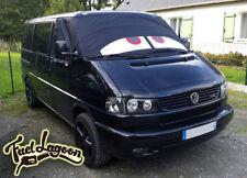 VW T4 Camper Van Ventana Frontal Pantalla Cubierta Envoltura de ojos rojos Transportador Black Out