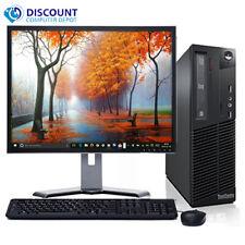 "Lenovo M81 Windows 10 Desktop Computer PC Fast Core i3 CPU 4GB 250GB 19"" LCD"