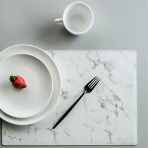 Placemat Waterproof Oil-proof Non-Slip Heat Insulation Pad Marble Table Mat YI