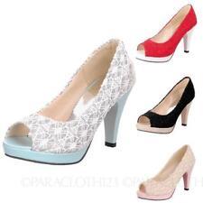 Block Open Toe Medium (B, M) Casual Heels for Women