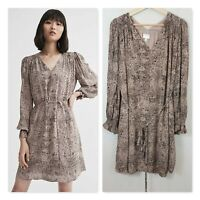 [ WITCHERY ] Womens Print Trapeze Dress  | Size AU 10 or US 6