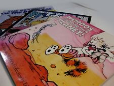CALVIN AND HOBBES BILL WATTERSON 3 BOOK COLLECTIONS NEWSPAPER STRIPS