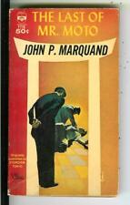 THE LAST OF MR MOTO by Marquand, Berkley #F776 crime Asian PI pulp vintage pb