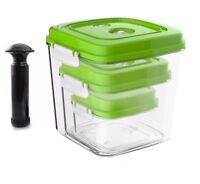 Vacuum Seal Container Large Capacity Square Plastic Airtight Food Saver Storage