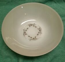 "Vintage White Milk Glass Anchor Hocking 8"" Round Serving Vegetable Bowl"