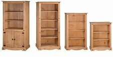 Corona Bookcase 2 Door Tall Medium Small Solid Pine Furniture Mercers Furniture