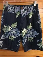 American Eagle Classic Tropical Shorts Men's Navy Size 26