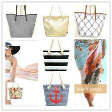 Womens Beach Bag Flamingo Tote HandBag Floral Shoulder Bag with Rope Handle