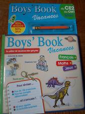 CAHIER DE VACANCES BOYS BOOK CE2 AU CM1 NEUF