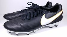 Nike Size 10 Soccer Cleats Tiempo Mystic V FG Black White Gold 819236-010 Mens
