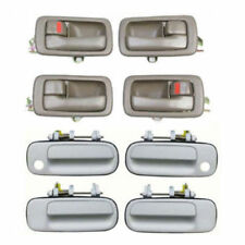 For 92-96 Toyota Camry DH84 4 Brown Inside & 4 White 040 Outside Door Handle