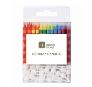 24 Stripey Birthday Candles