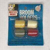 Vintage Broom Holders Betty West - Pack of 4