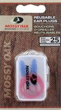 Mossy Oak Hunting Corded Reusable Ear Plugs - Noise/Hearing Protection Nrr 25