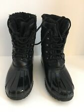 Sporto Dorothy Duck Boots Black Waterproof Black Size 7 Medium