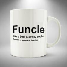 Funcle Mug / Cup Coffee Tea Funny Uncle Gift Birthday Christmas Novelty Joke