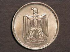 EGYPT 1960 10 Piastres Silver AU-Unc