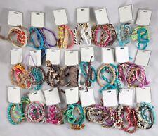 Bulk Lot of 40 Bracelets, String, Bead, Shell, Wood, Rope